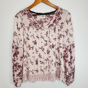 🌿Knox Rose Boho Embroidered Lace Top Size S🌿